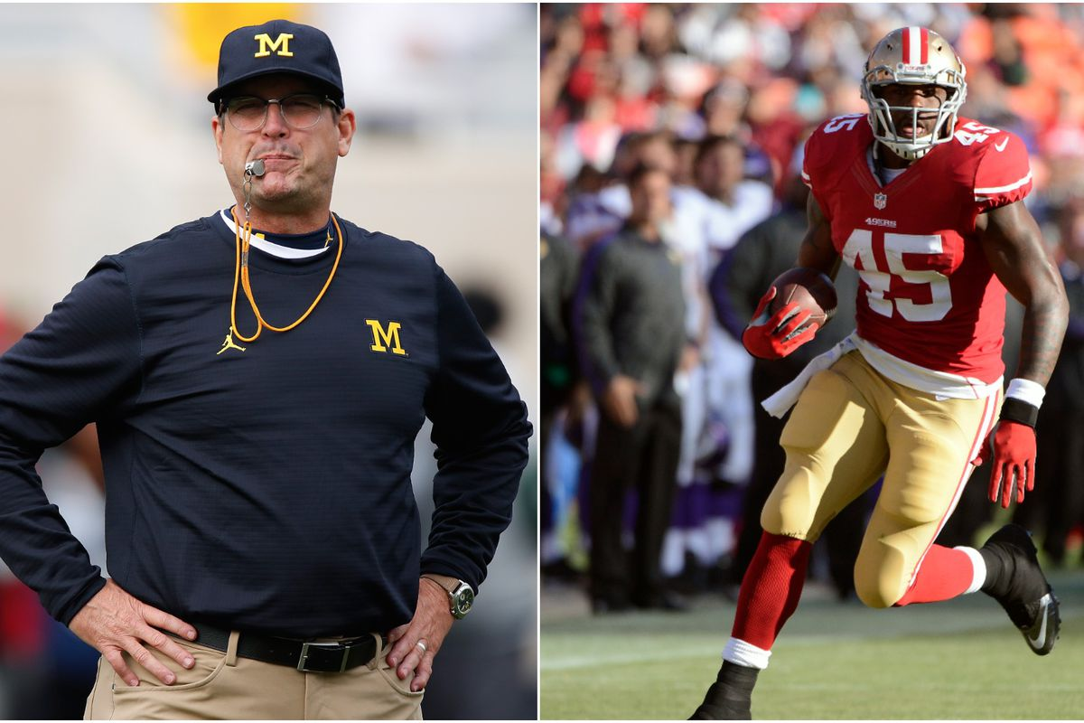Brandon Jacobs: Michigan will fire Jim Harbaugh when I'm done exposing him