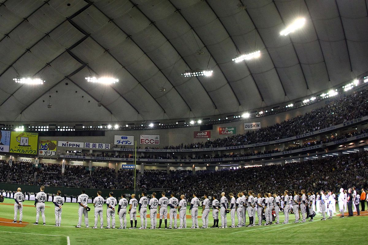 Opening Day at the Tokyo Dome.