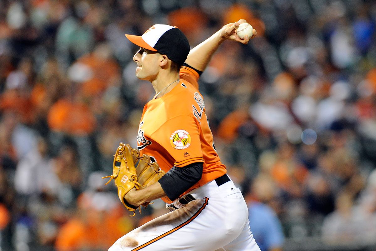 """Last time Ryan Flaherty pitched was high school. """"Wasn't very good then, and still not,"""" said Flaherty."""