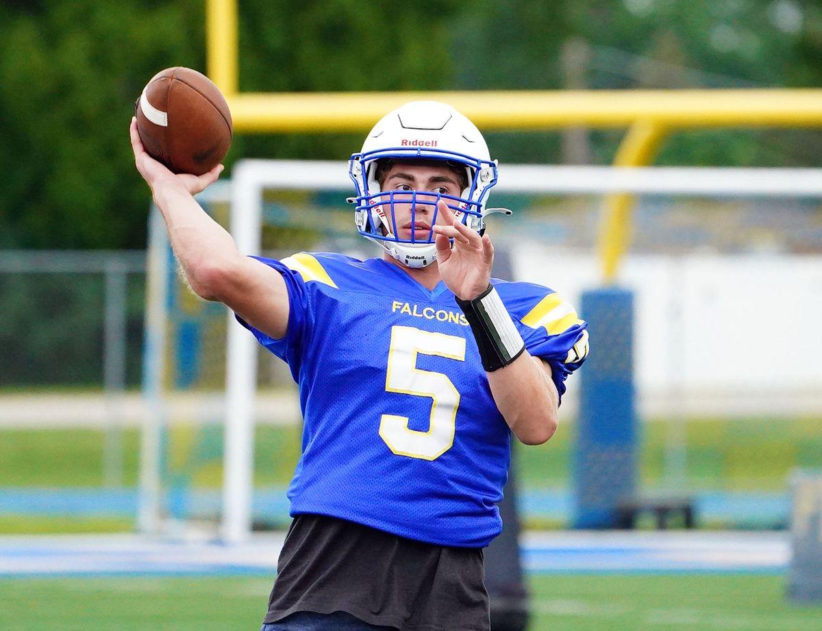 Wheaton North's Mark Forcucci (5) at practice.