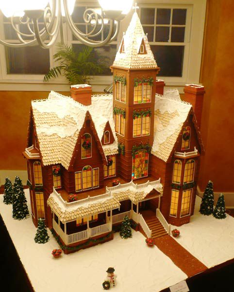 Fancy gingerbread home.