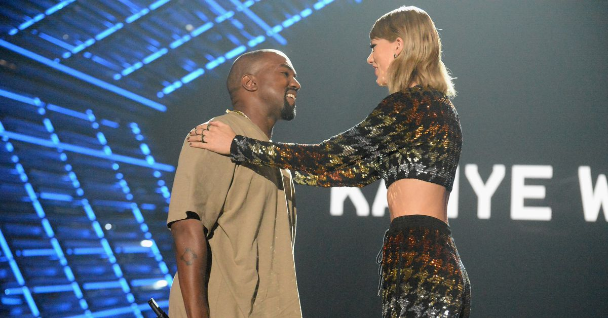 "Newly leaked footage shows Taylor Swift and Kanye West talking ""Famous"" thumbnail"