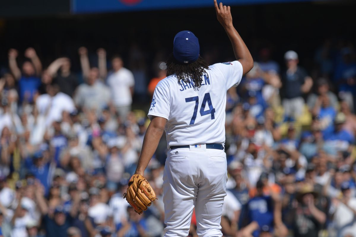 cdb3a580a9b Kenley Jansen injury  Dodgers closer out with irregular heartbeat ...