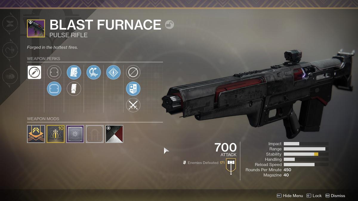 Destiny 2 Blast Furnace