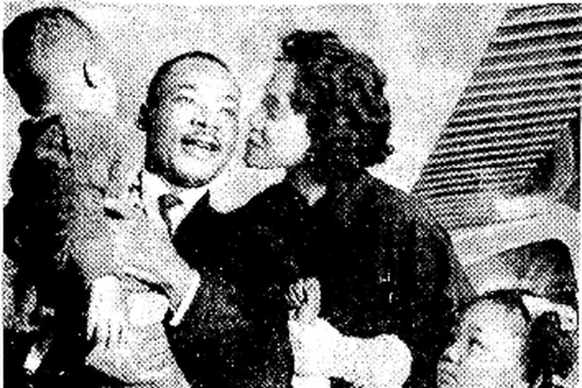 A photo of Dr. Martin Luther King, Jr. and his family