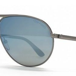 """<strong>Tom Ford</strong> Marko Aviator Sunglasses in Silver/Mirrored Blue, <a href=""""http://www.bergdorfgoodman.com/p/Tom-Ford-Marko-Men-s-Aviator-Sunglasses-Silver-Mirrored-Blue/prod90880040/?eVar4=You%20May%20Also%20Like%20RR"""">$410</a> at Bergdorf Goodm"""