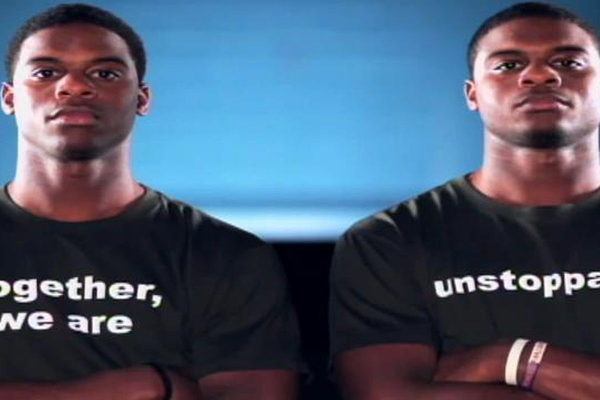 """Shamel and Rhamel Bratton, in an ESPN commercial for """"What Matters."""""""