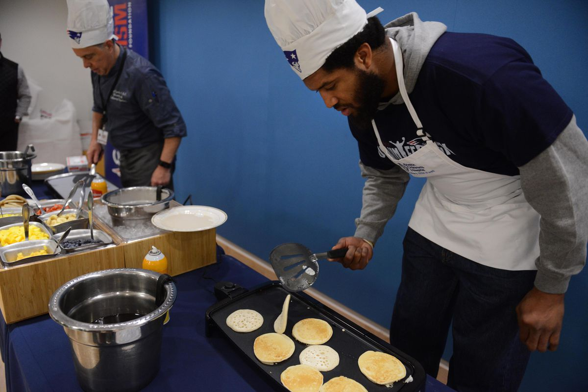 Boston Children's Hospital and the New England Patriots Celebrate Annual Pancake Day Party