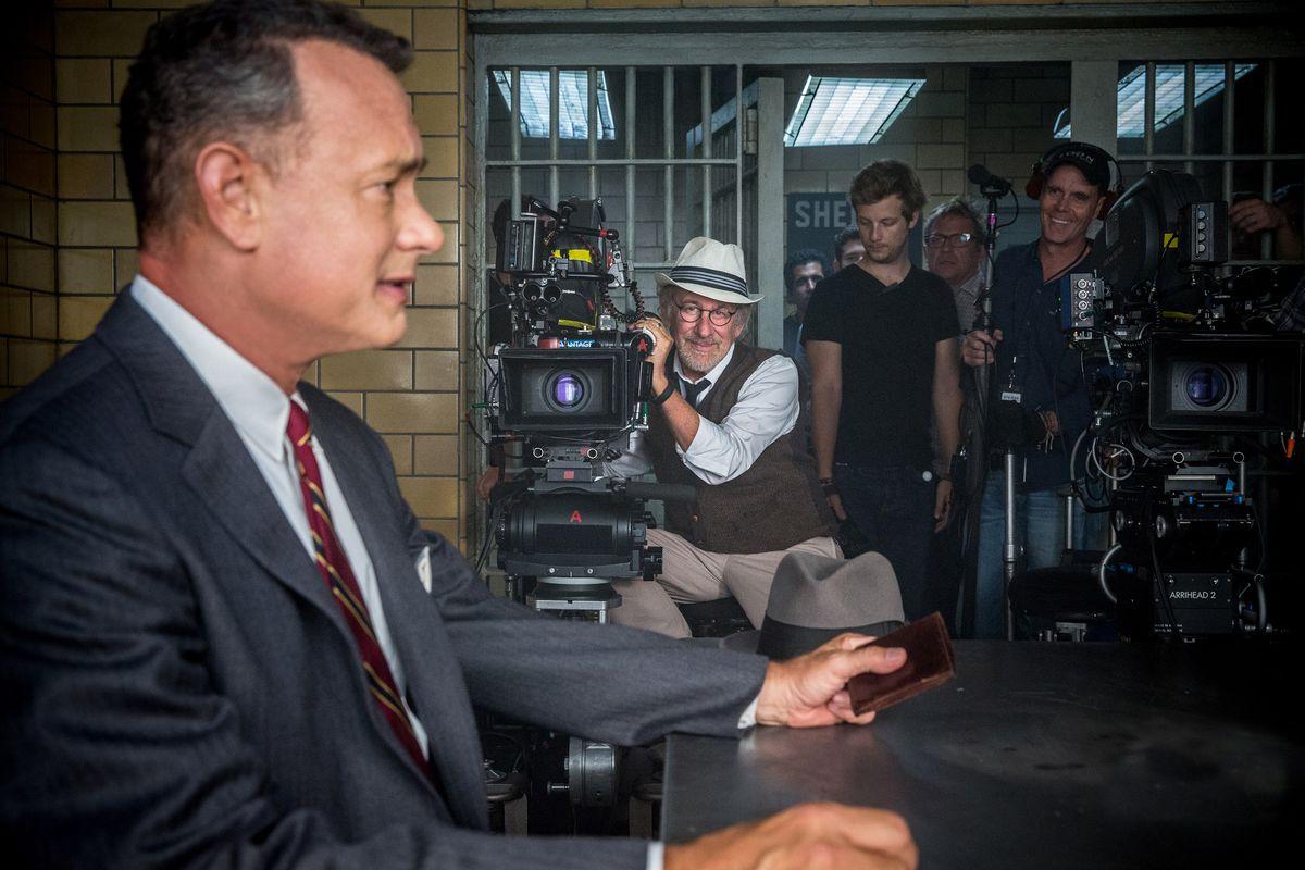 Steven Spielberg films Bridge of Spies.