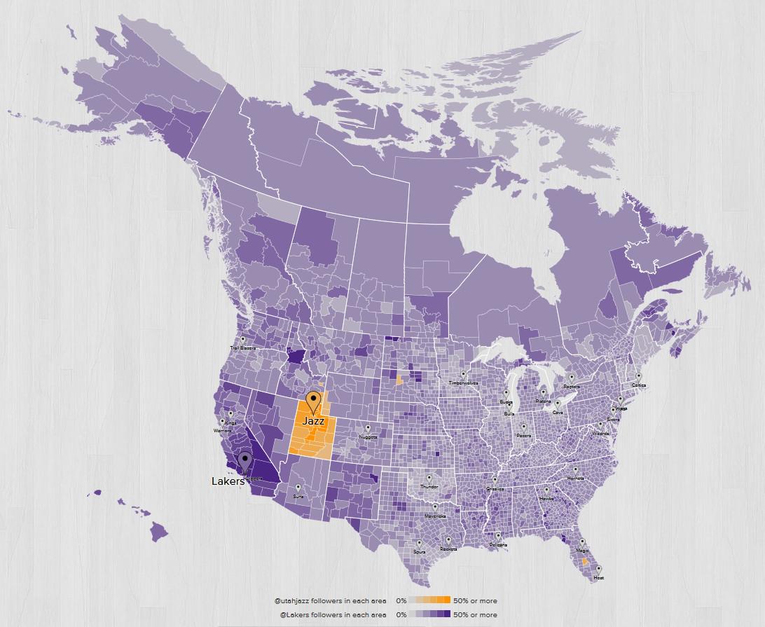 Los Angeles Lakers Vs Utah Jazz Game Thread SLC Dunk - Los angeles to utah map