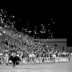 1985-Saturday Night Fever - FSU fans releasing environmentally friendly balloons.
