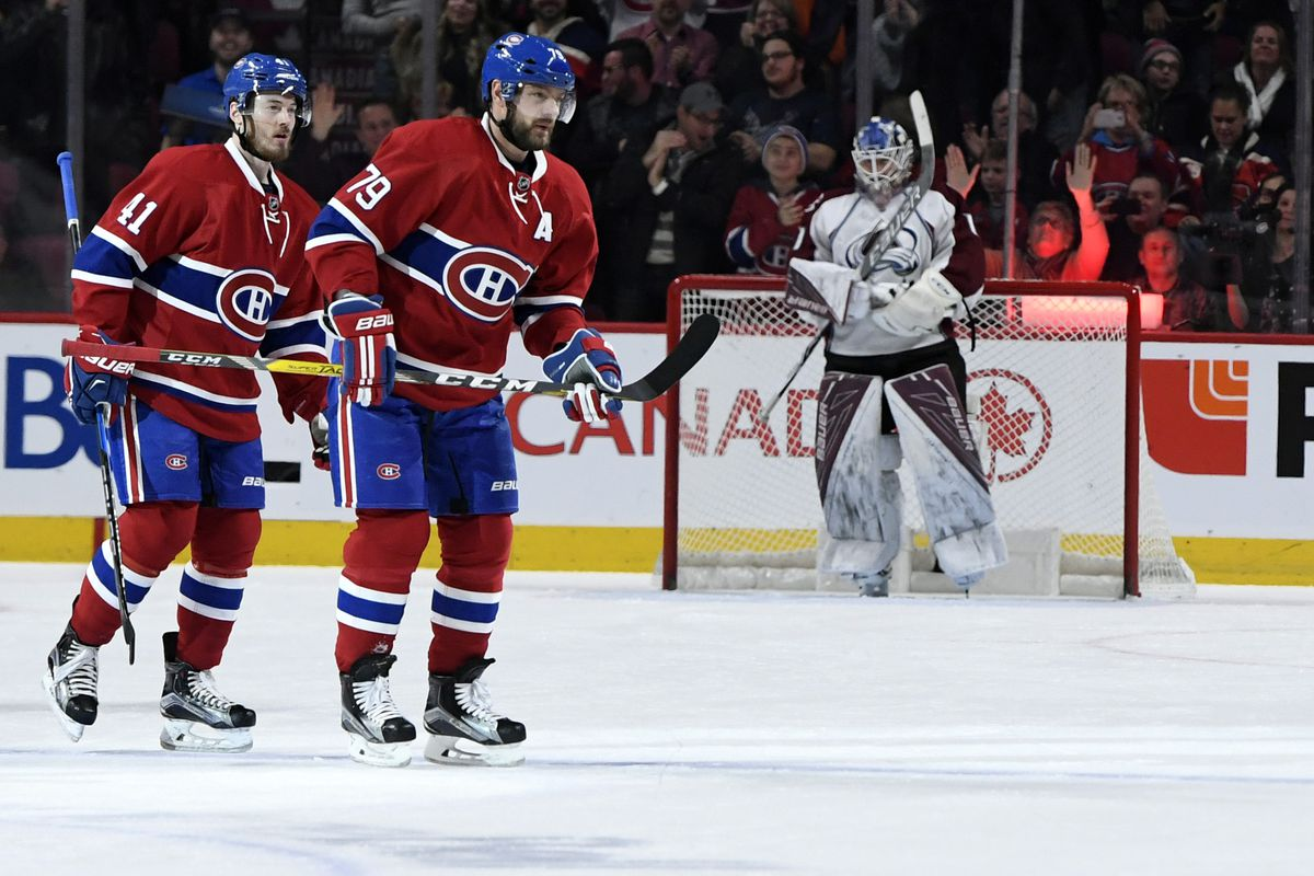 NHL: Colorado Avalanche at Montreal Canadiens