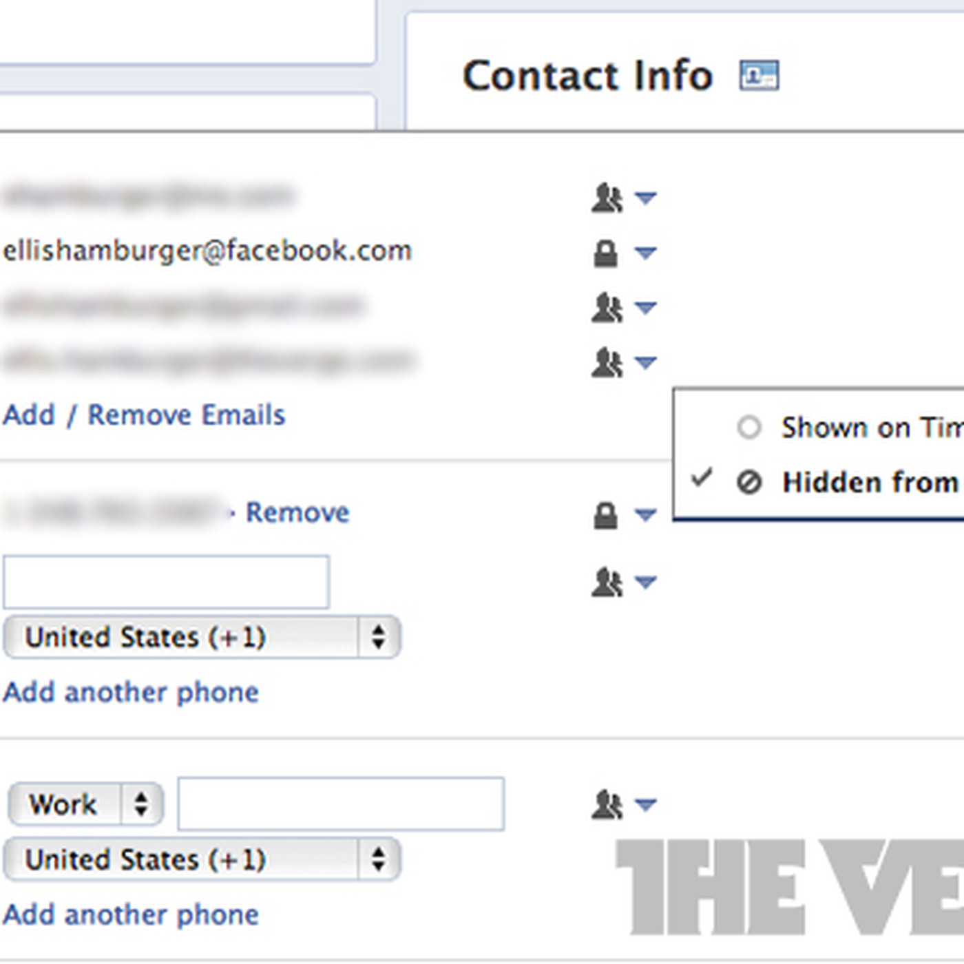 Facebook pushes @facebook com email address in Contact Info, hides