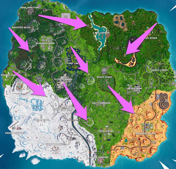 Fortnite pirate camps map