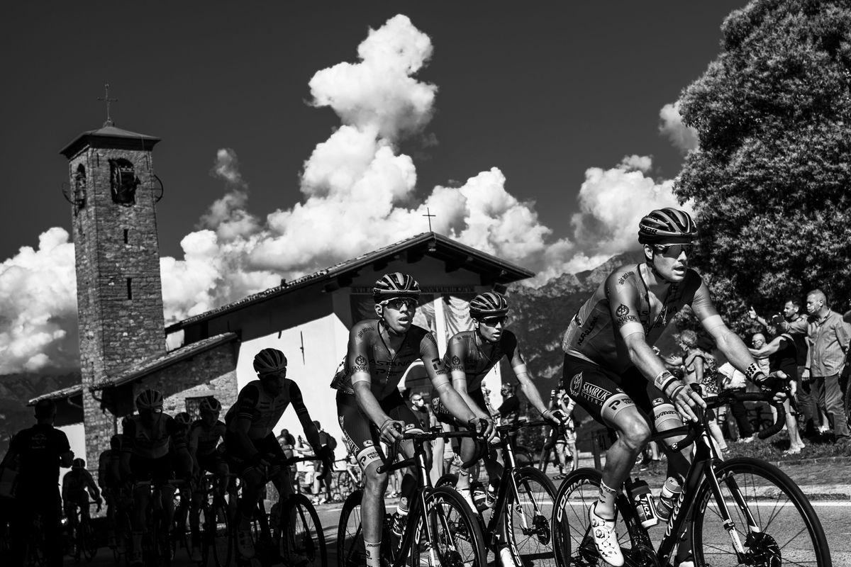 ITALY-CYCLING-GIRO-DI-LOMBARDIA-BLACK AND WHITE