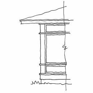 <p>The porch overhang should be at least as long as that on the existing house roof. The horizontal aspect of a rambler lends itself to an extended overhang—as much as 3 feet. Continue the linear theme with screen panels that are oriented horizontally.</p>