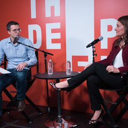 NBD - Vox's Ezra Klein catching up with the inspiring Melinda Gates on our podcast stage.