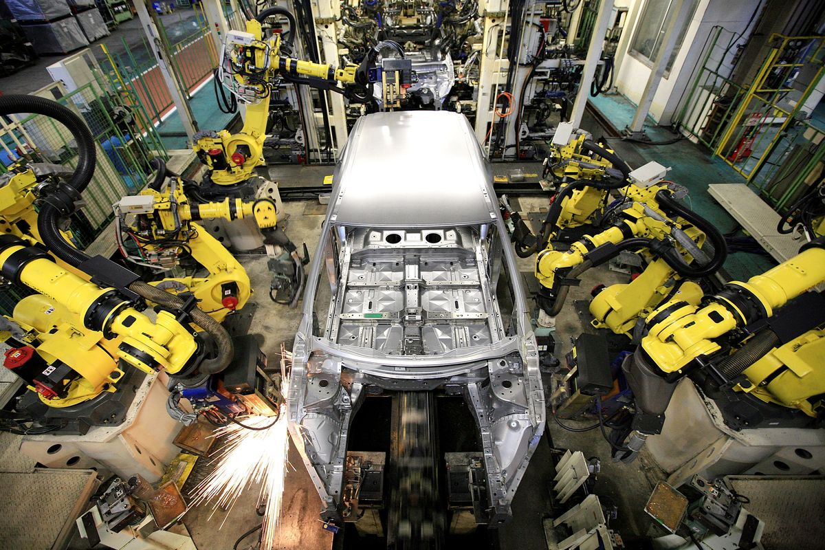 Industrial robots in the US are being deployed exactly ...