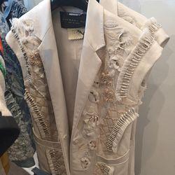 Ivory leather vest, $762