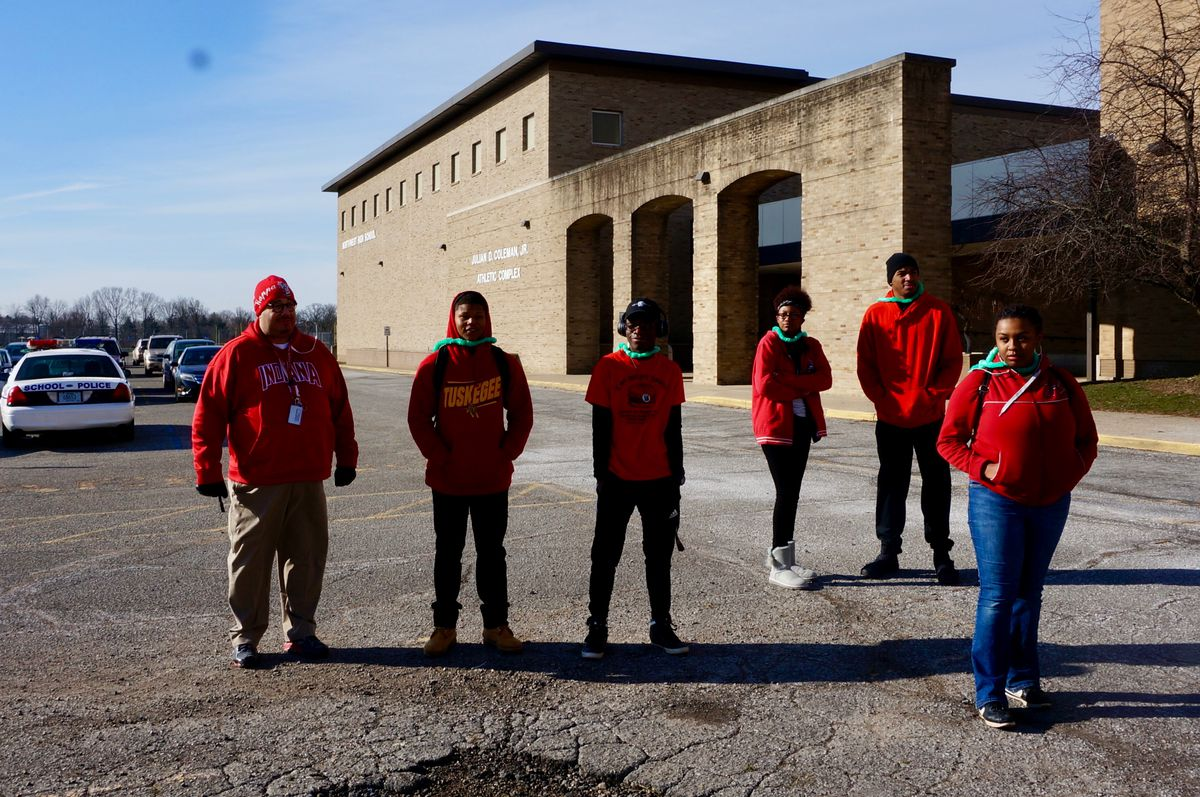 At Northwest High School, students organized a walkout on Wednesday, March 14, 2018.
