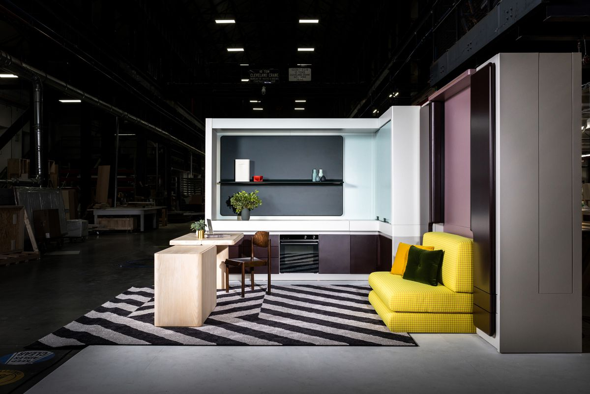 Modern furniture in display setting