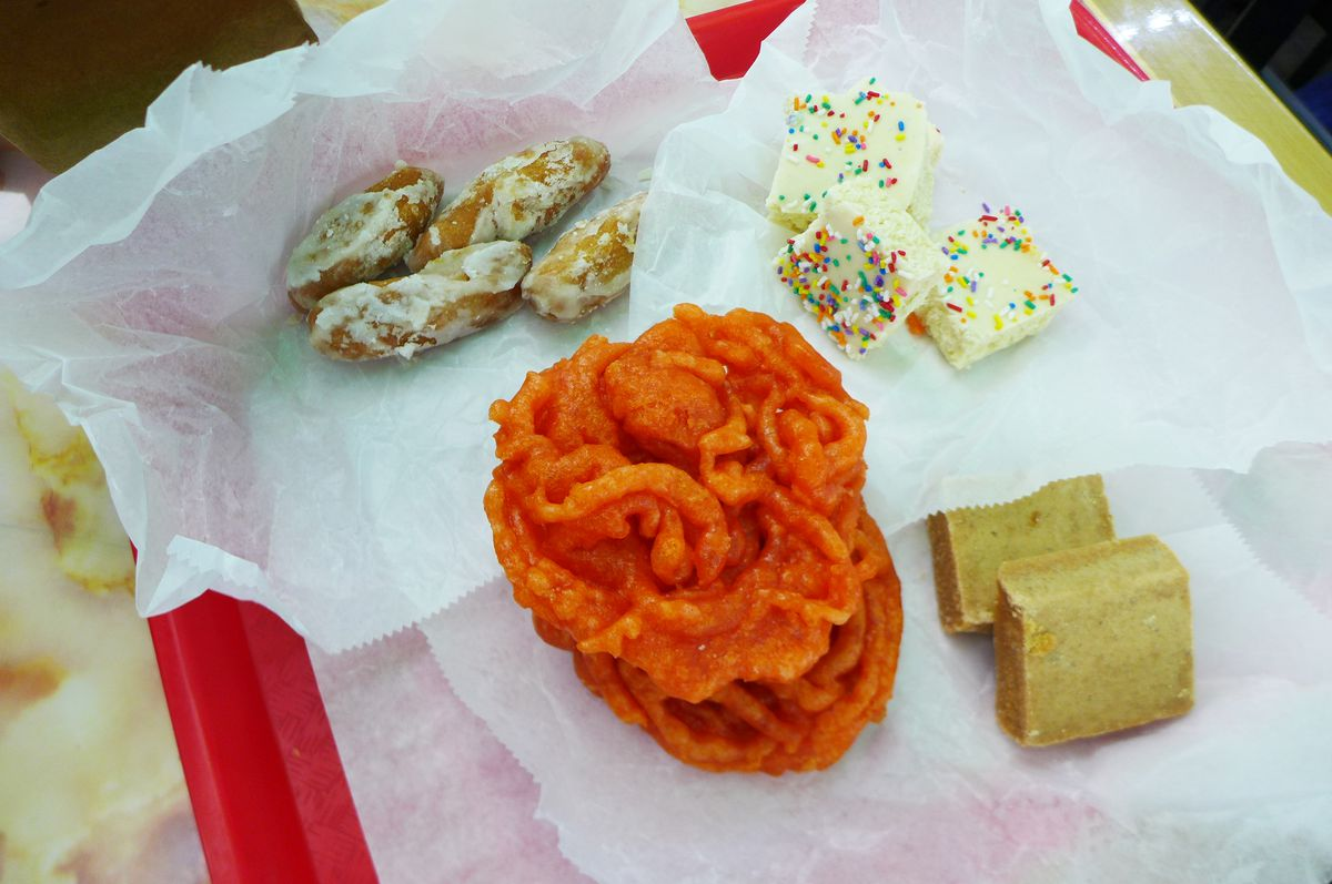 Indian sweets are also available.