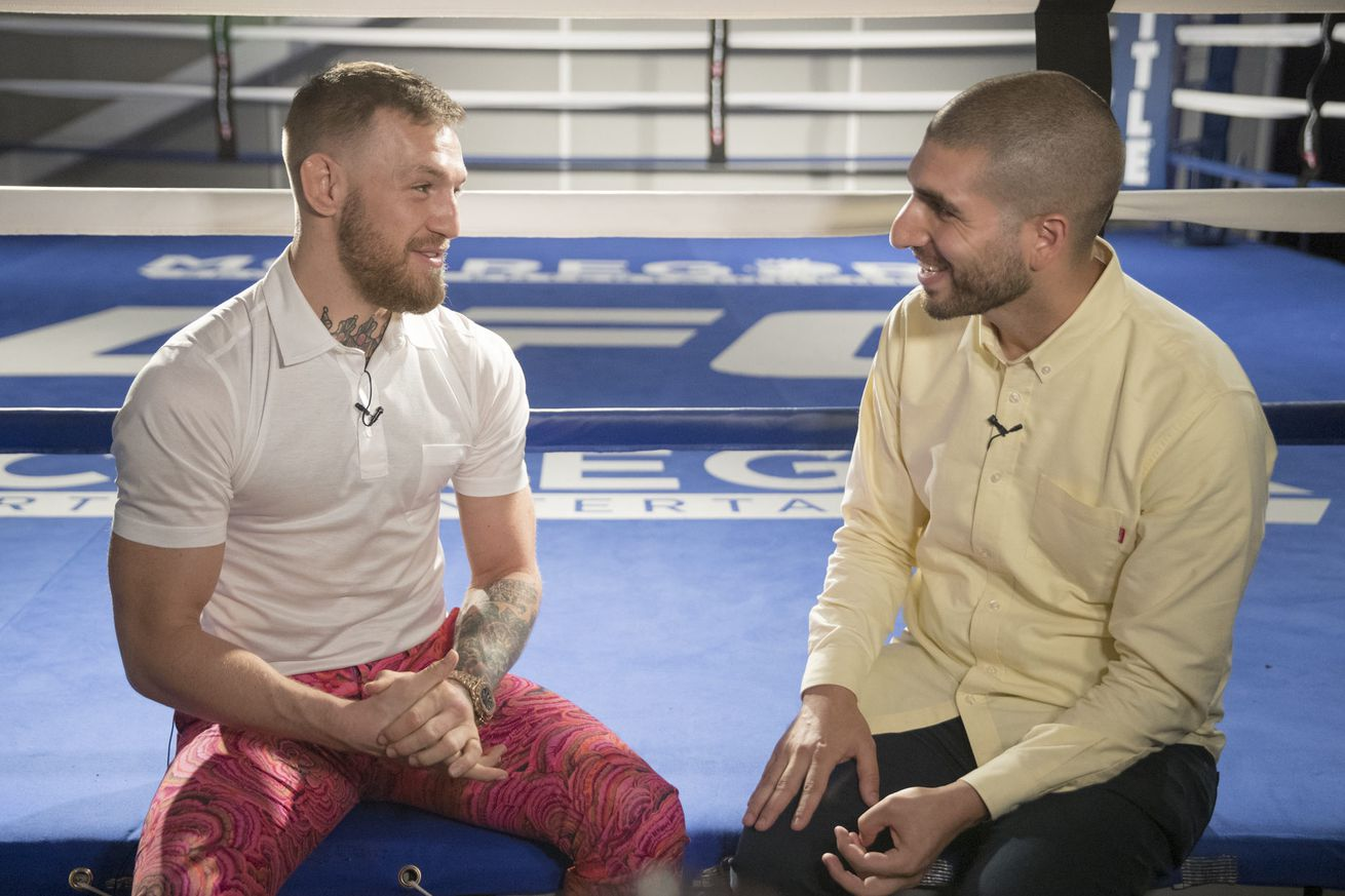 community news, Ahead of Mayweather fight, Conor McGregor discusses racism accusations, Malignaggi drama, expected $100M payday