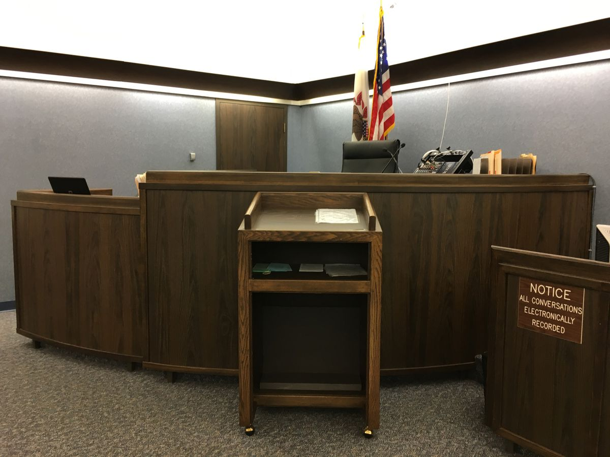 Before he was sentenced Friday, Drew Peterson told a Randolph County judge in this courtroom that he wasn't really trying to have Will County State's Attorney James Glasgow killed but was simply trying to pull off a scam.   Andy Grimm/Sun-Times