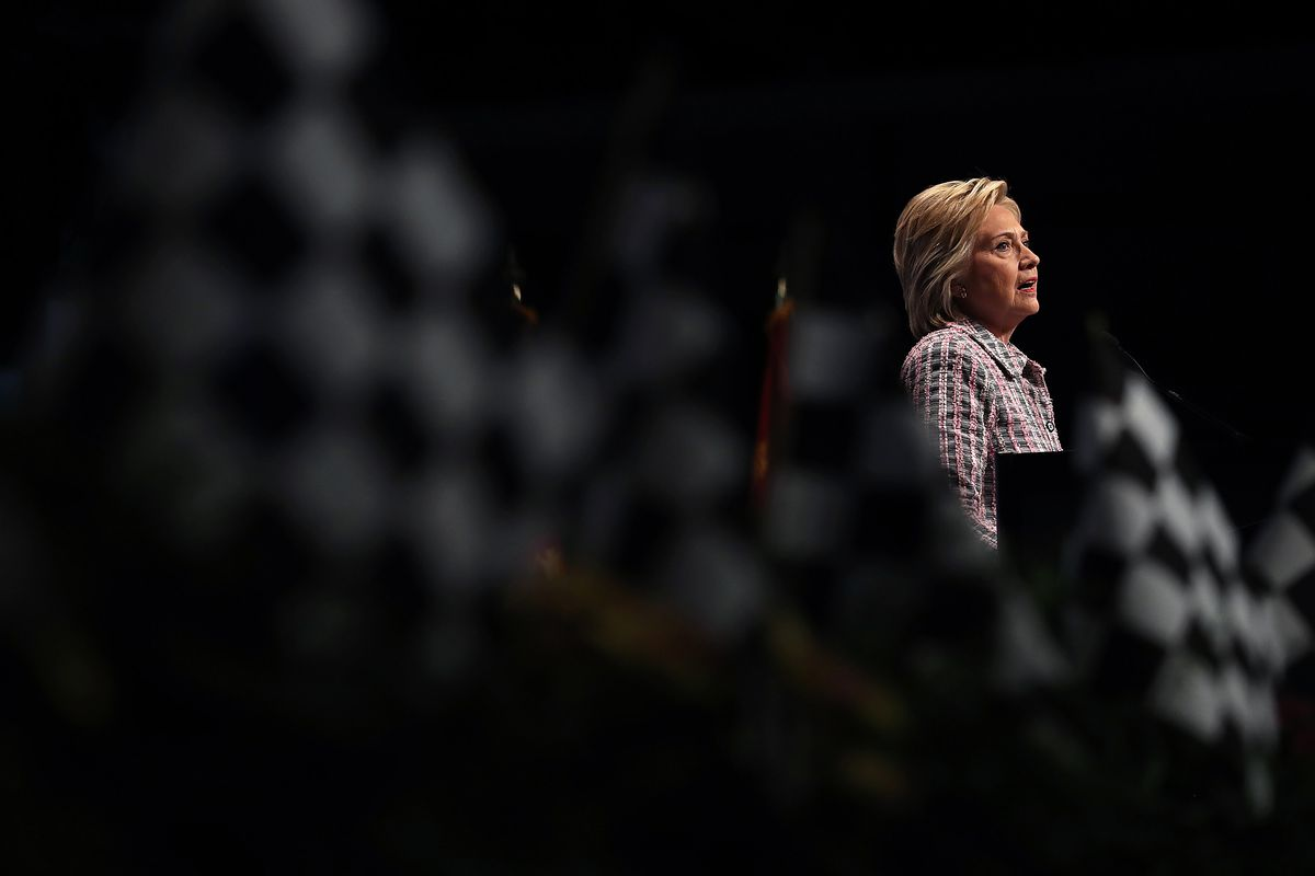 Democratic Presidential Candidate Hillary Clinton Speaks At VFW Convention In Charlotte, North Carolina