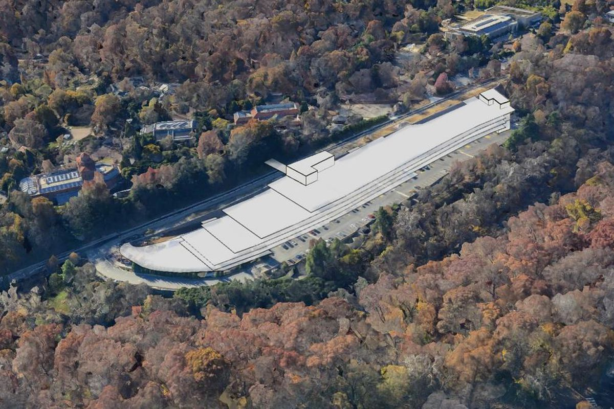 D C S National Zoo Plans 1 285 Space Garage Curbed Dc