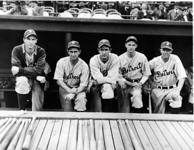 Detroit Tigers 1935 Pitching Staff And Manager