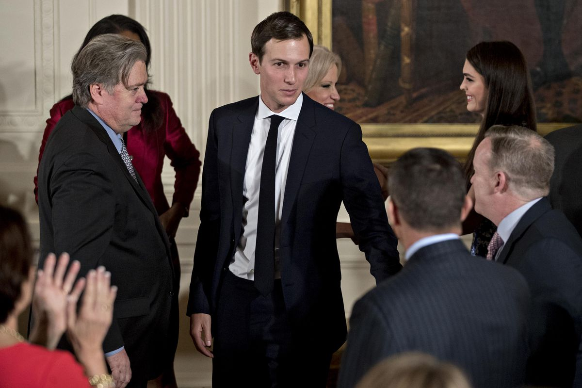 President Trump Swears In Senior Staff At White House
