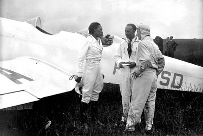 Josephine Baker and the airplane she bought in 1934