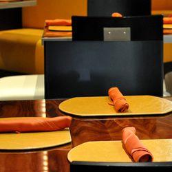 Napkins ready for their menus.