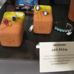 Erie Basin jewelry in a colorful display