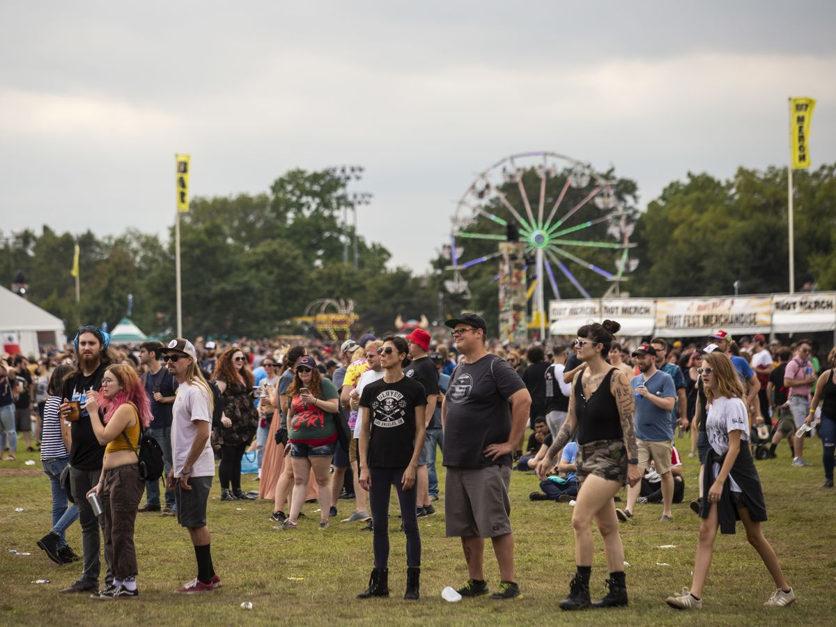 Festival-goers flock to Douglas Park for day three of Riot Fest, Sunday afternoon, Sept. 15, 2019.