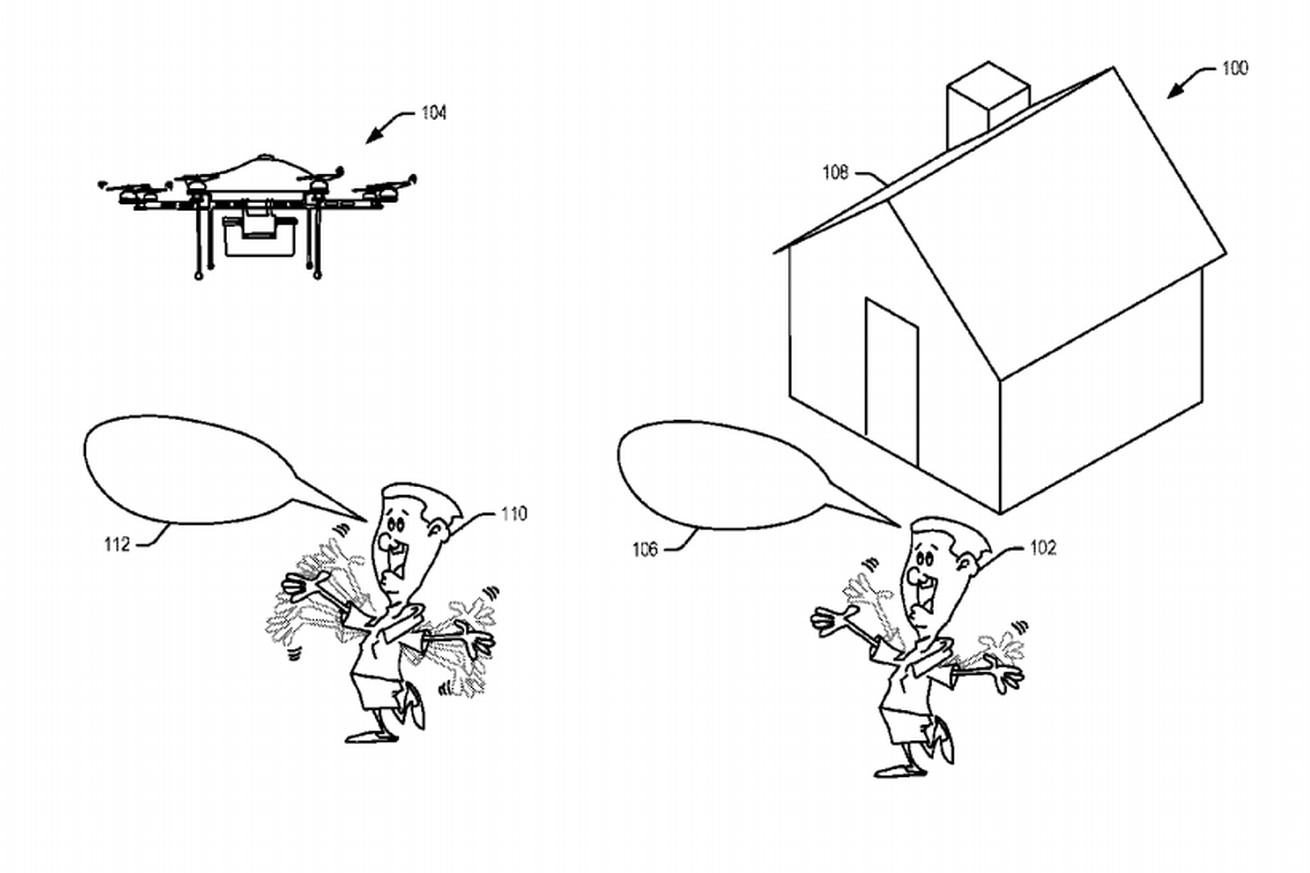 amazon s latest patent is a delivery drone that understands when you shout at it