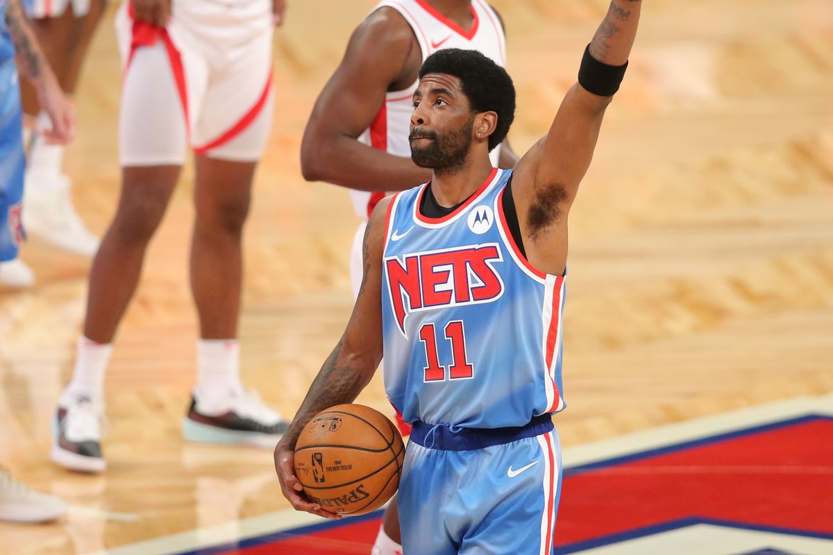 Kyrie Irving leads the Nets
