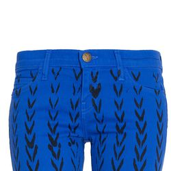 """<b>Current/Elliott</b> chevron ankle skinny jean, <a href=""""http://sale.cakestyle.com/collections/jeans/products/current-elliott-chevron-ankle-skinny-jean-cobalt"""">$90</a> (was $218)"""