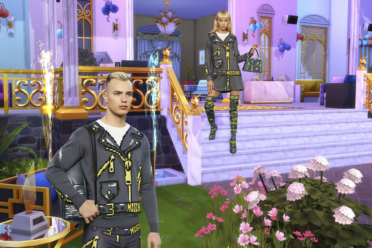 The Italian fashion company Moschino announced Wednesday that it will soon be releasing a Sims game-inspired fashion line.