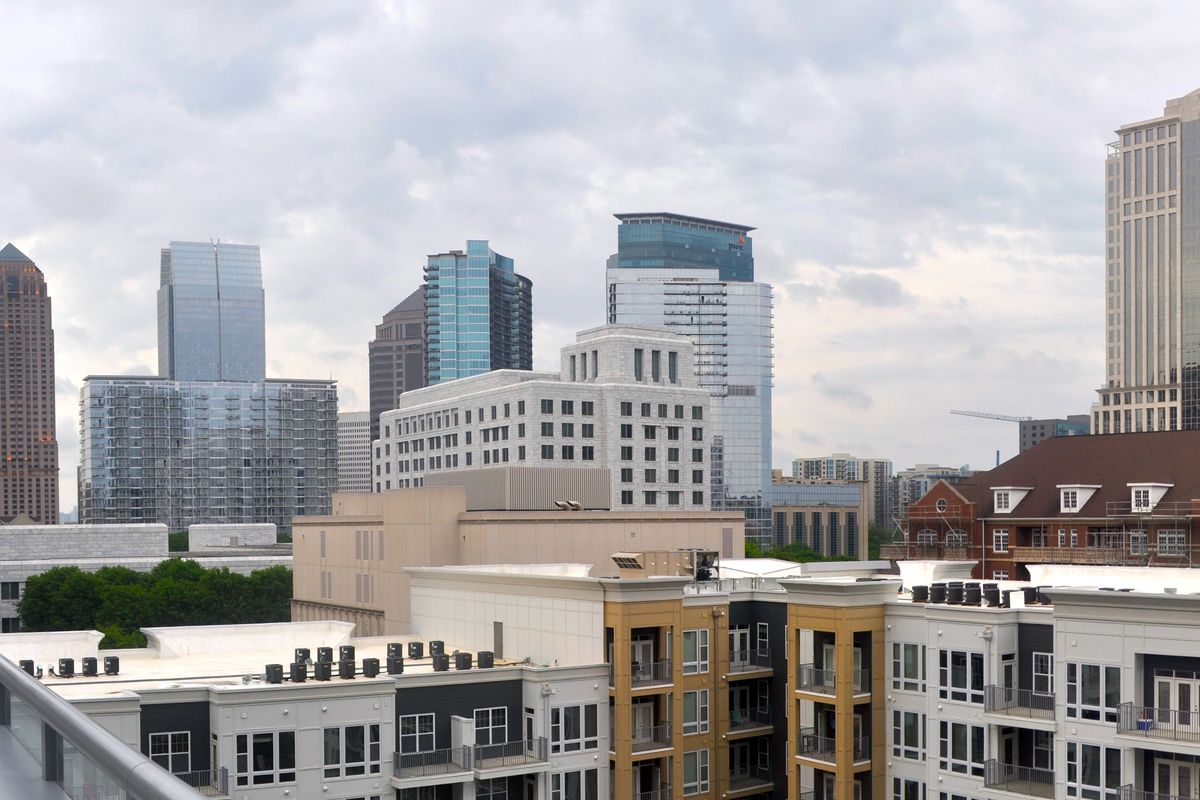 Pictured here, growing Midtown is ground zero for Atlanta's explosion of pricey apartments.