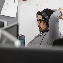University of Utah graduate student Jeff Nay works on a project in Salt Lake City on Wednesday, April 5, 2017. Utah and it's nationally ranked Entertainment Arts & Engineering video game development program announced Wednesday that it is forming the U.'s first college-sponsored varsity esports program.