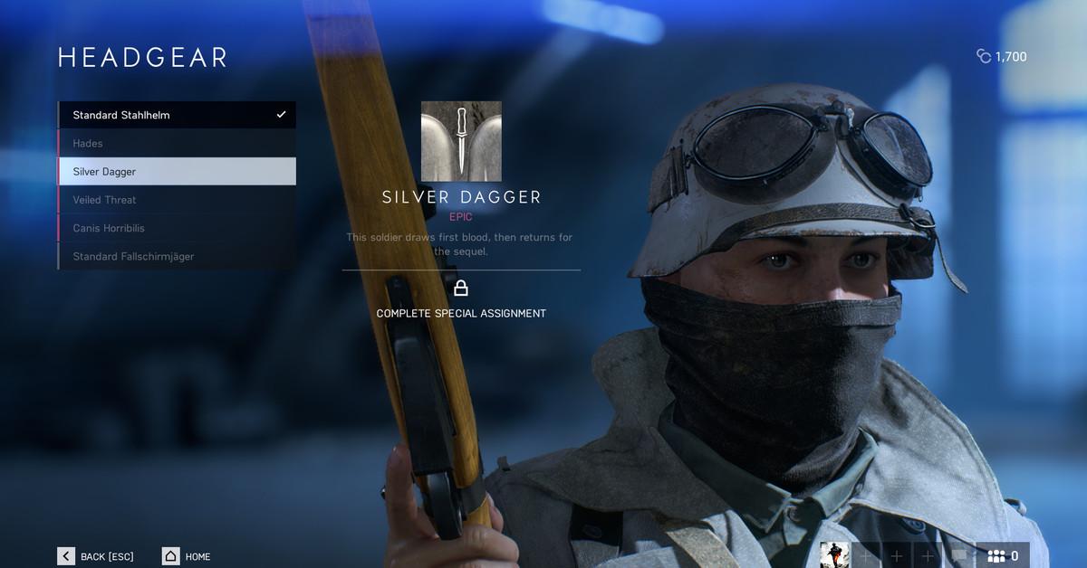 How do cosmetics work in Battlefield 5?