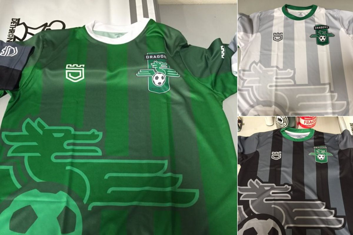 All three new Burlingame Dragons FC jerseys have been leaked