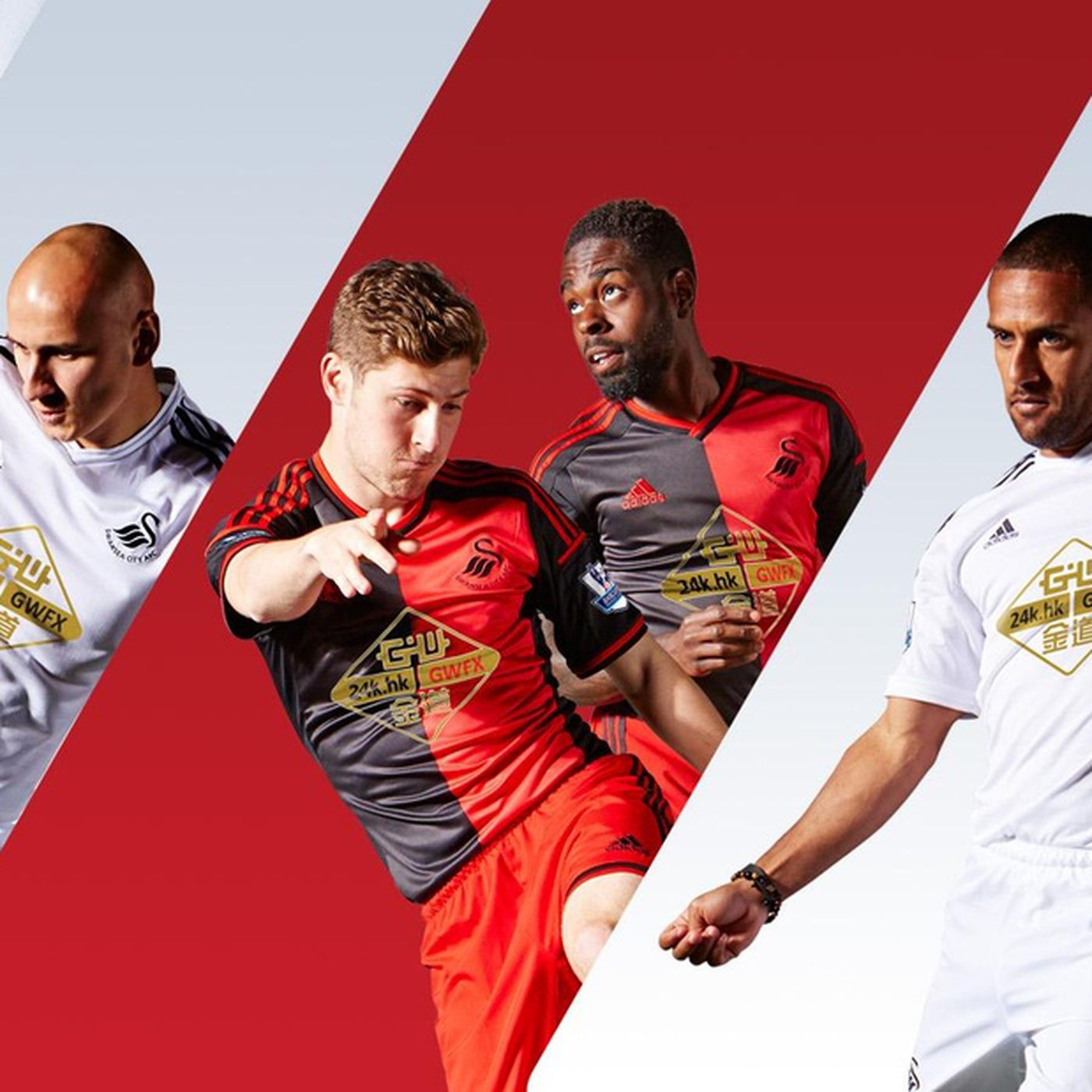 86a6473d1 Swansea City unveil 2014 15 adidas home and away kits - SBNation.com