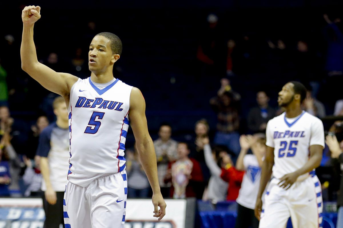 Billy Garrett (#5) and DePaul are a surprising 2-0 to open Big East play.