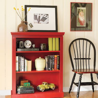 DIY Small Bookcase With Moldings
