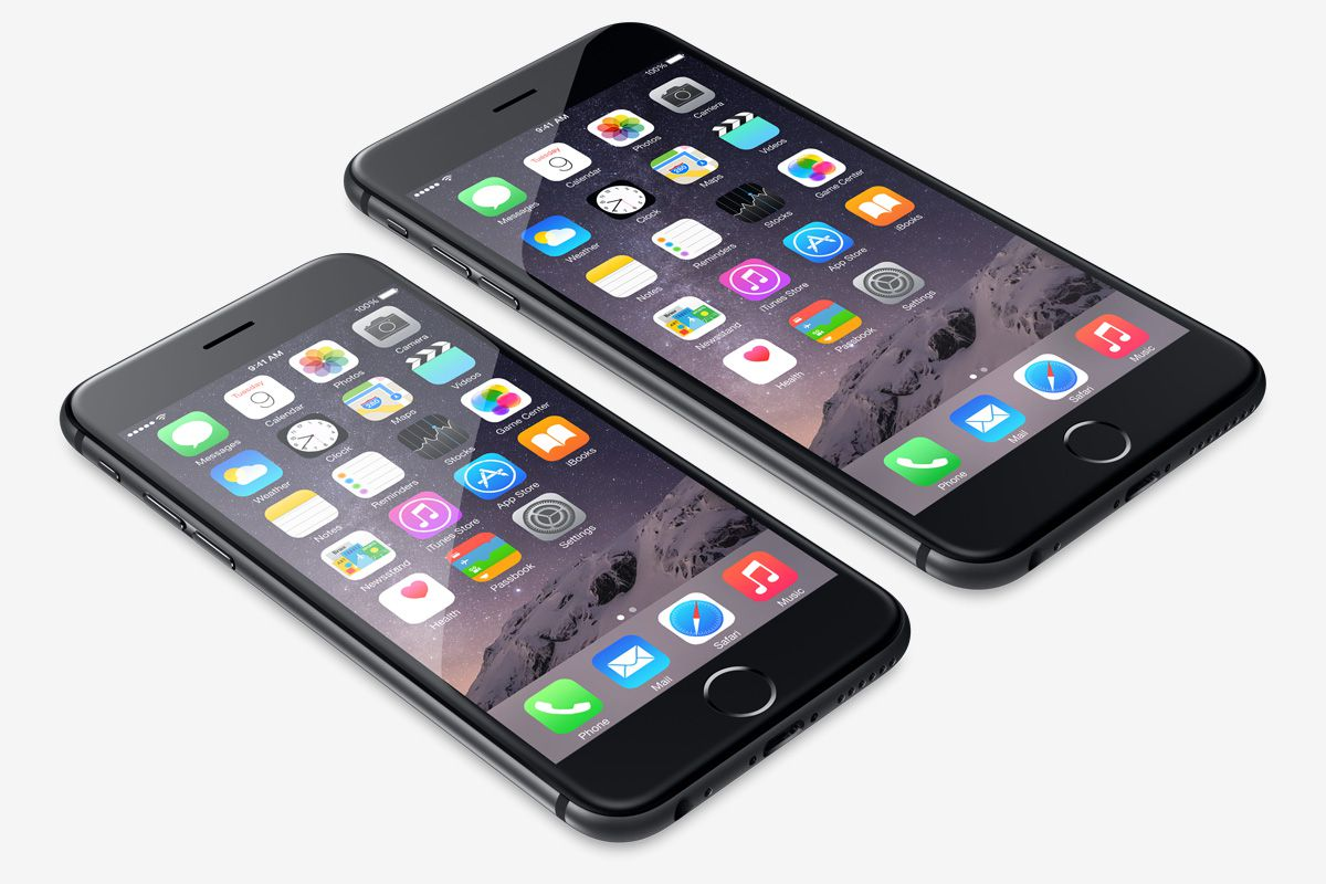 """iPhone 6 and 6 Plus. Image via <a href=""""https://www.apple.com/uk/iphone-6/"""">Apple</a>."""