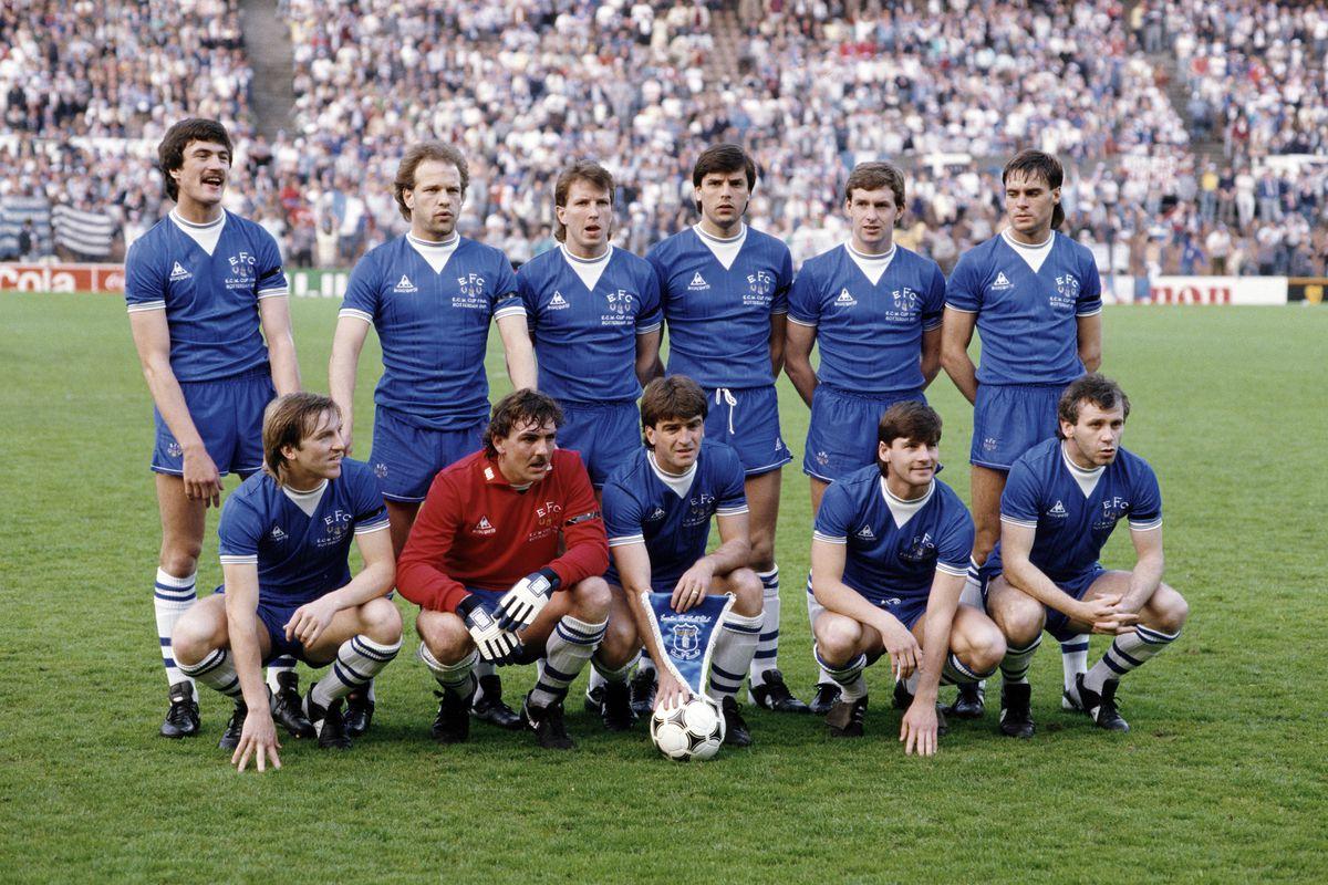 Everton Team Group UEFA European Cup Winners Cup Final 1985 v Rapid Vienna