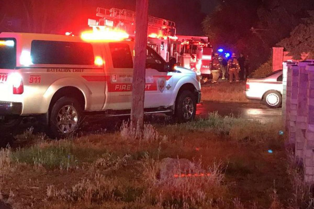 Crews responded to the scene at the 1500 block of Crystal Avenue, according to authorities. The woman died after being trapped in the house.